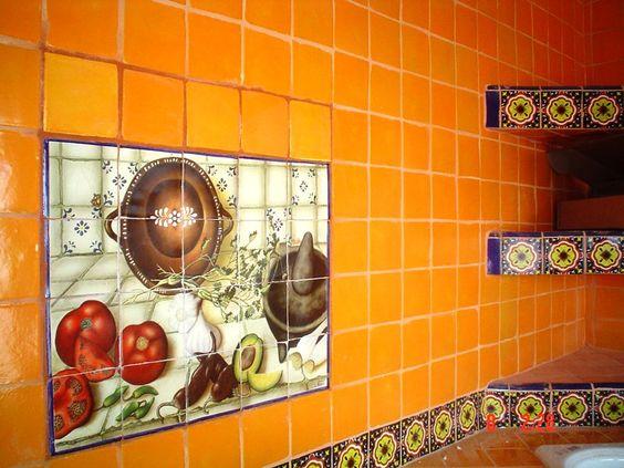 Decoracion De Baños Rusticos Con Talavera:con Talavera – Rústicos Artesanales – Talavera – Azulejo Talavera