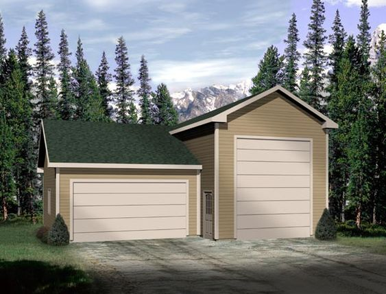 Traditional Style 3 Car Garage Plan Number 49035 Rv Storage Rv Garage Plans Garage Building Plans Building A Garage