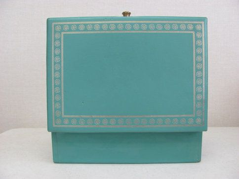 Vintage Lady Buxton Aqua Jewelry Box by DaveysVintage on Etsy