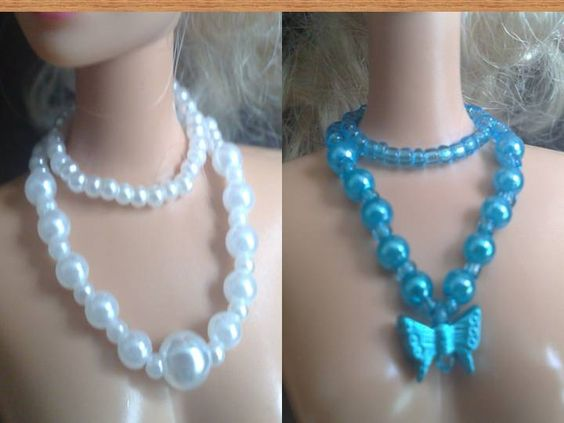 Necklaces for Barbie or similar dolls