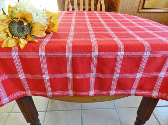 Hey, I found this really awesome Etsy listing at https://www.etsy.com/listing/386329846/red-plaid-tablecloth-large-red