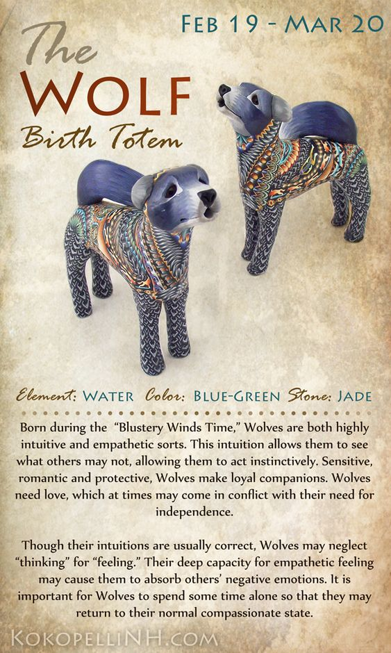 Native American Wolf Symbolism - Birth Totem Animal