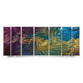 All My Walls�36-in W x 8-ft 6-in H Abstract Art on Metal Wall Art