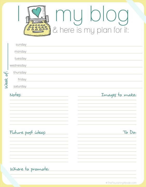 A planner for your blog - now that is handy!!