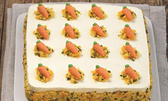 Prächtige Torte mit Orangencreme - der Hit auf jeder Ostertafel
