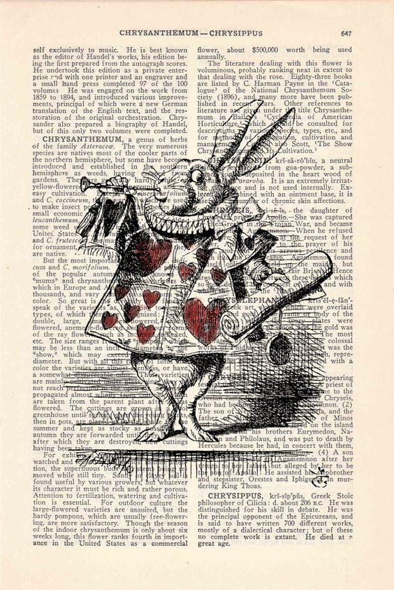 spring sale alice in wonderland white rabbit print on