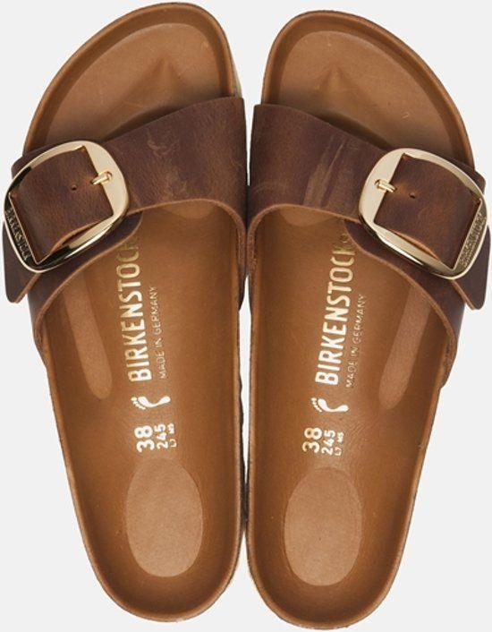 Birkenstock Madrid Dames Slippers Small fit Cognac Maat
