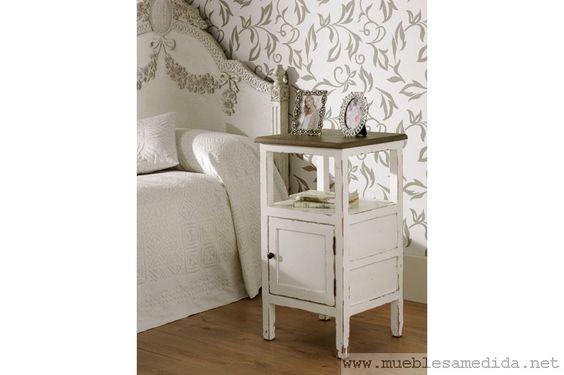 mesilla blanca provenzal-muebles a medida | muebles madera | armarios a medida -