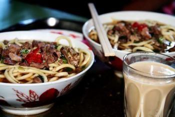 Tibet noodle in Tibet restaurant.