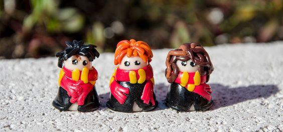 Serafin's Wonderland: Harry, Ron und Hermine aus Fimo
