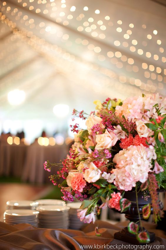Shades of Pink Arrangement  http://busseysflorist.com/wedding-flowers/
