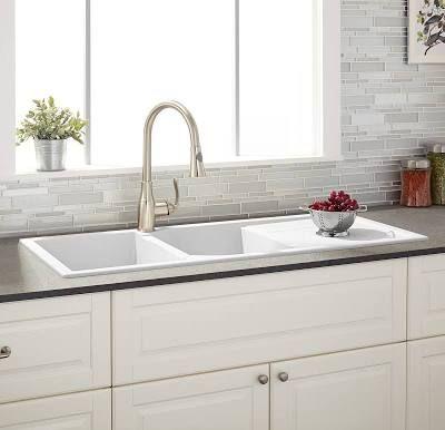porcelain kitchen sink with drain board   Best kitchen sinks