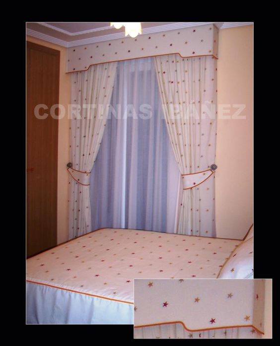 Decoraci n estilo rom ntico cortinas montaje triple con - Cortinas con estilo ...