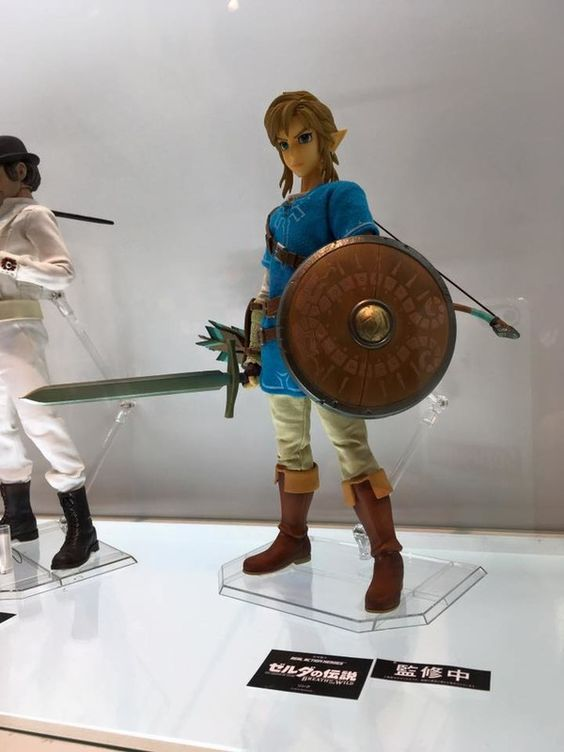Feast Your Eyes on This Awesome Breath of the Wild Link Figure  If you want to recreate scenes from the upcoming Legend of Zelda: Breath of the Wild in the wilds of your suburban enclave Medicom is releasing an amazing Link figure to help you achieve your miniature Nintendo dreams.  The highly detailed figure comes equipped with a sword shield bow and a quiver of arrows. And from the photo via GANKING on Twitter it looks like Link will come with an actual cloth tunic.   Image source…