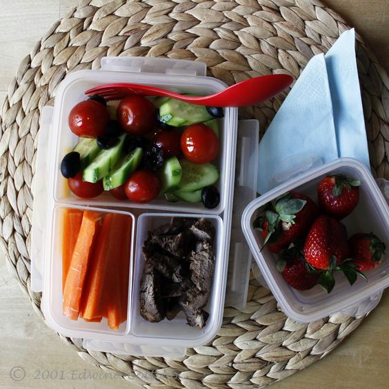Steak, Veggies, and Fruit!