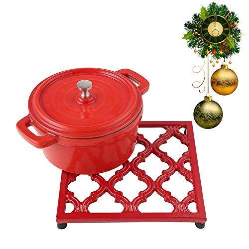 Square Cast Iron Trivet Red Metal Trivets For Kitchen Dining Jogreful Teapot Trivet Trivets Trivet