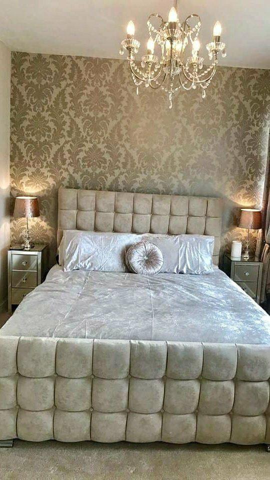 I Love Wallpaper Shimmer Metallic Grande Damask Wallpaper Mustard Gold Ilw261553 A Stunning Wa Damask Wallpaper Bedroom Feature Wall Bedroom Damask Bedroom