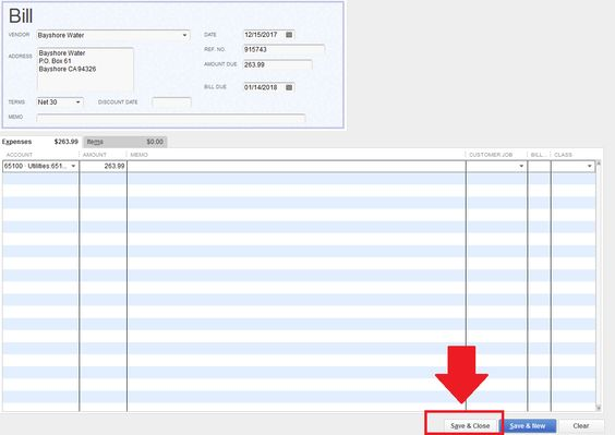 QuickBooks Tutorial How to Enter a BIll in QuickBooks 2013 blog - general ledger form