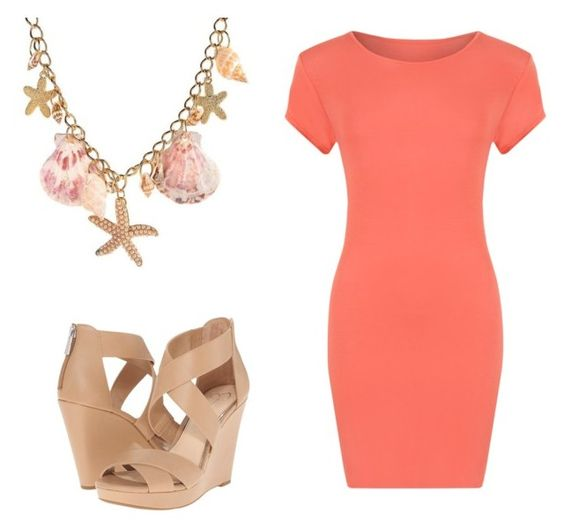 """""""Shell Necklace"""" by sassyladies ❤ liked on Polyvore featuring WearAll and Jessica Simpson"""