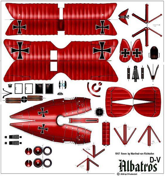 Albatross D-V (1917 - Manfred von Richthoffen):