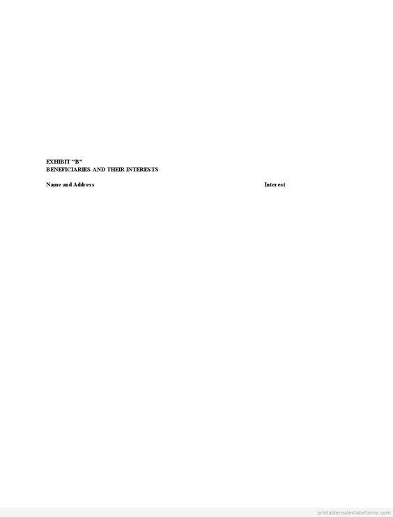 Sample Printable pp trust Form