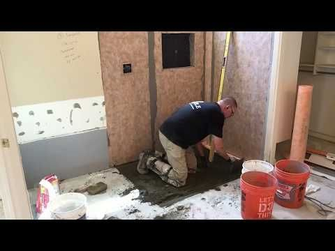 How To Build Curbless Shower On Concrete Slab Ronnie Tears It Up