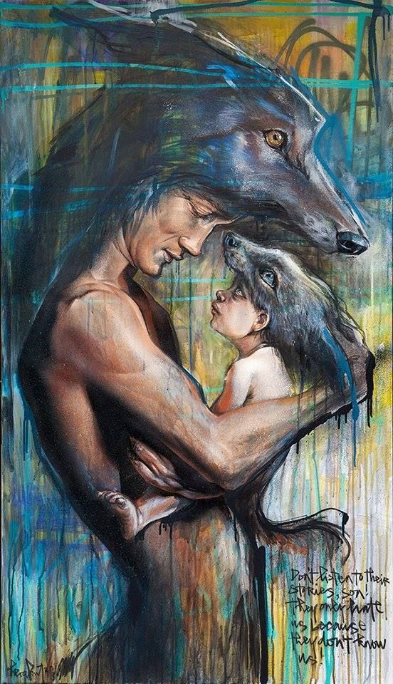 """Teaching Fairy Tales - Artists : Herakut.-.Herakut is the name of a two-person team of German street artists specializing in murals. Jasmin Siddiqui, or """"Hera,"""" and Falk Lehman, """"Akut,"""" call themselves graffiti artists"""