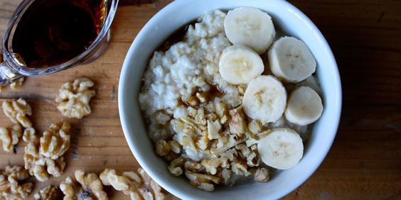 Every bite of this oatmeal has the sweet flavor of banana and maple, and crunchy walnuts. Total Time: 10 min. Prep Time: 5 min. Cooking Time: 5 min. Yield::