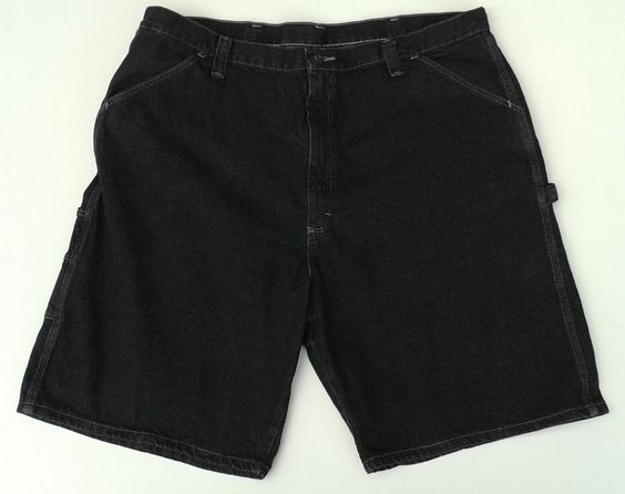 WRANGLER ORIGINALS Black Denim Cargo Jean Shorts MEN'S 42 RN ...