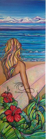 """My Painting Process: """"North Shore Surf Day"""" – Colleen Wilcox Art"""