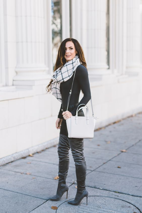THIGH HIGH GRAY BOOTS UNDER $50 | LovebyLynn | Boots | Pinterest