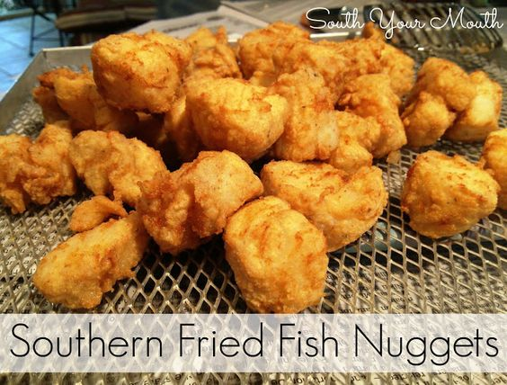 Fish nuggets fried fish and mouths on pinterest for Southern fried fish recipe
