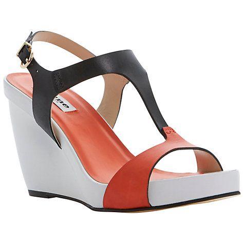 Buy Dune Giselle Leather Wedge Sandal Online at johnlewis.com