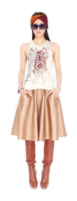 Balenciaga two tone romantic top