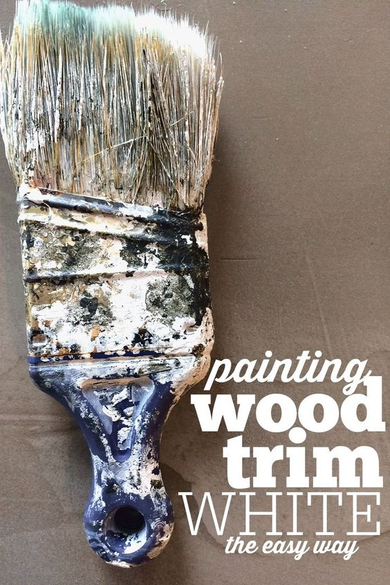 Stained trim how to paint and wood trim on pinterest for How to paint trim