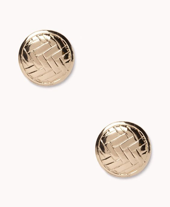 Retro Coin Studs   FOREVER21 - 1025100457