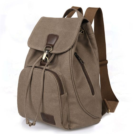 2016 New Vintage woman Canvas Backpack Unisex Fashion Lock and String Backpack all-match Travel Backpack for Teenagers