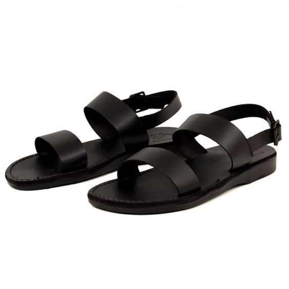 Jerusalem Sandals Gabe - Jerusalem Sandals Gabe is just the style you've been looking for. This simple and easy-to-wear style works well with any casual clothing. The beautiful leather will only become softer and more attractive over time. Try wearing these stylish sandals with a pair of slim cuffed trousers. Jerusalem Sandals calls these sandals the Golan, and you can see them everywhere from city streets to runways during men's fashion week events. A truly versatile pair!