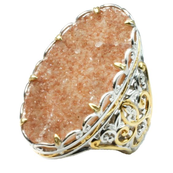 One-of-a-kind Michael Valitutti Citrine Druzy Ring Women's