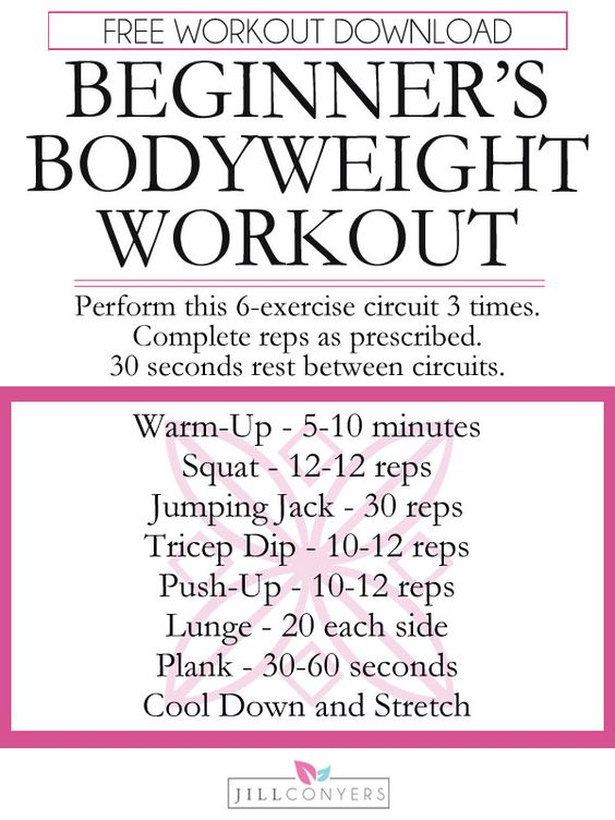 Whether you're beginning your fitness journey or just haven't made time to workout in a while, this workout was created with you in mind. This beginner's workout is designed to get you moving, keep you working, and create a routine that you can stick with. Click through to http://jillconyers.com to download the FREE workout and exercise index. Pin it now, workout later!