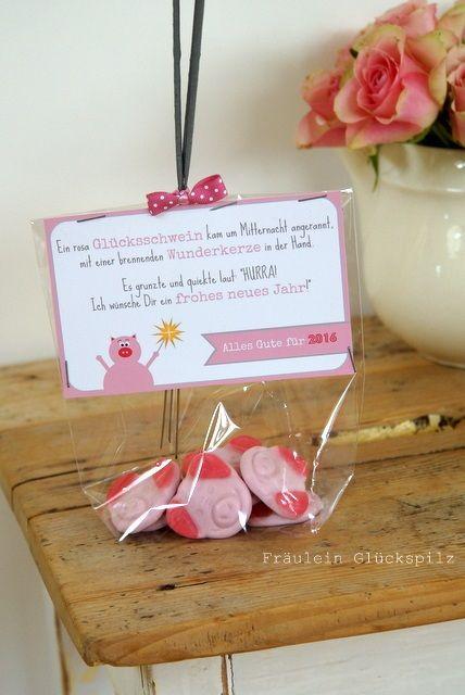 Gl cksschwein kleines mitbringsel zu silvester gesehen - Pinterest geschenkideen ...