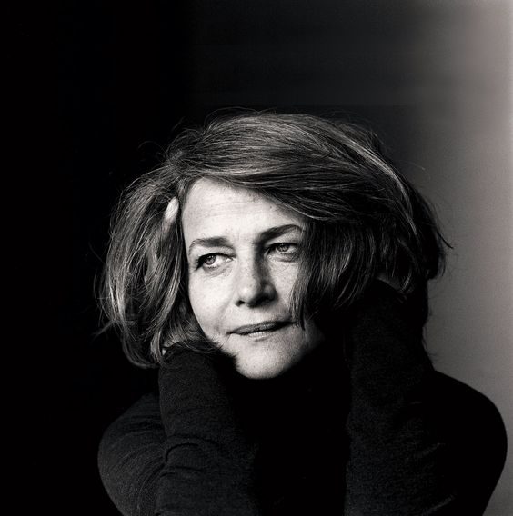 Charlotte Rampling photographed by Irving Penn.