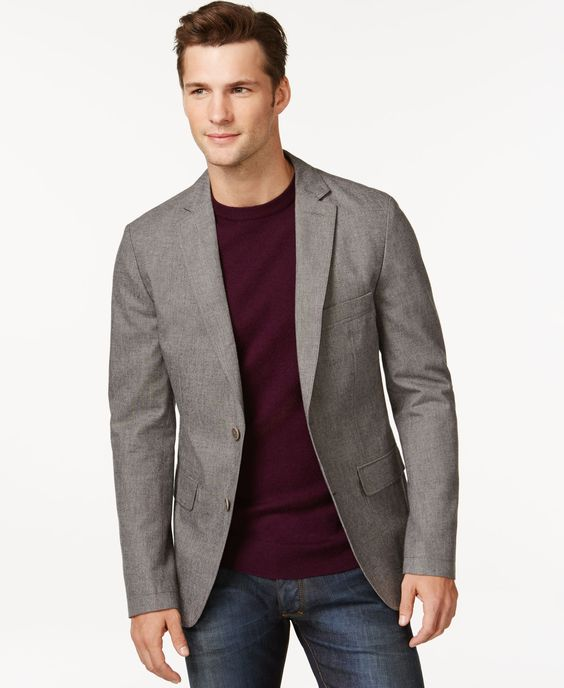 Boss Hugo Boss Norell Two-Button Gray Sport Coat | julian