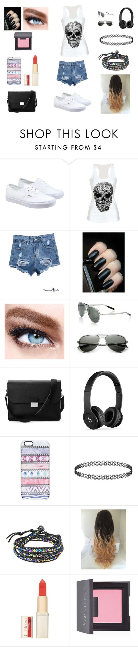 """""""#Skull"""" by rubies0205 ❤ liked on Polyvore featuring Vans, Maybelline, Dior Homme, Aspinal of London, Beats by Dr. Dre, Casetify, AeraVida, L'Oréal Paris and Laura Mercier"""