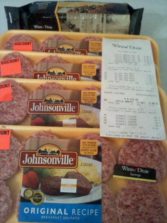Winn-Dixie $4.91 OOP! 4 packs of Johnsonville Sausage & 1 pack of WD brand Breakfast Blend Coffee! Nice Score!