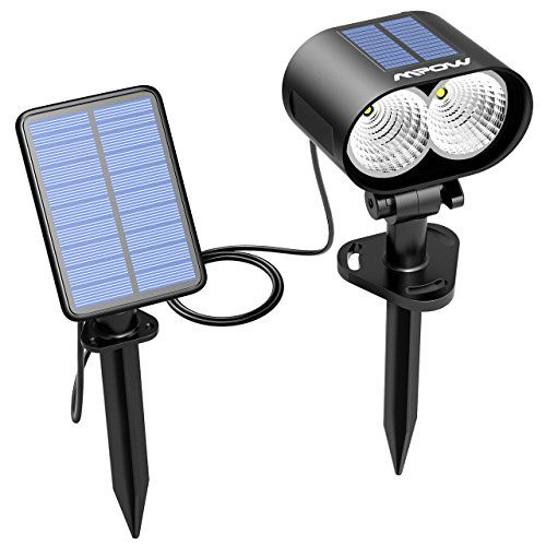 Mpow Solar Spotlight Outdoor 1 Pack Led Solar Light Wireless