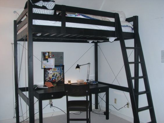 ikea hackers stora bed bracing actually more interested in the desk set up bed desk set