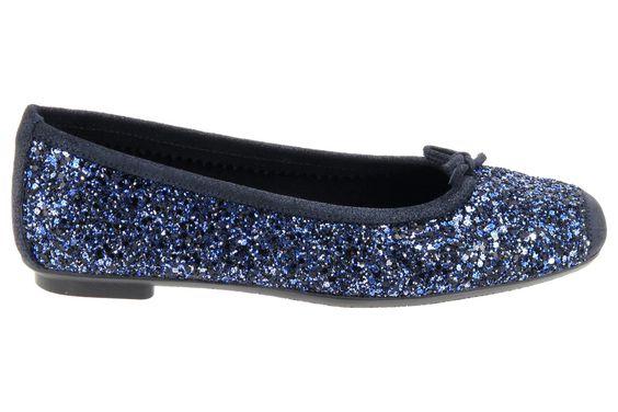 Ballerines à paillettes bleues pour femme.  Ballerines Reqins Harmony Glitter couleur bleu.  75 € sur la boutique en ligne Chausty
