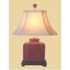 Crimson Hand Made Lamp with Shade