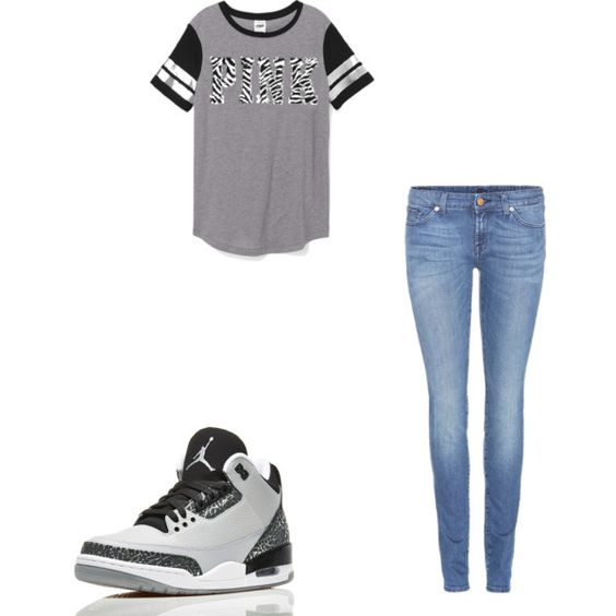 Cute School Oufit by missy-john on Polyvore featuring Victoria's Secret PINK and 7 For All Mankind